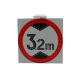 Led placard warning solar led traffic lights