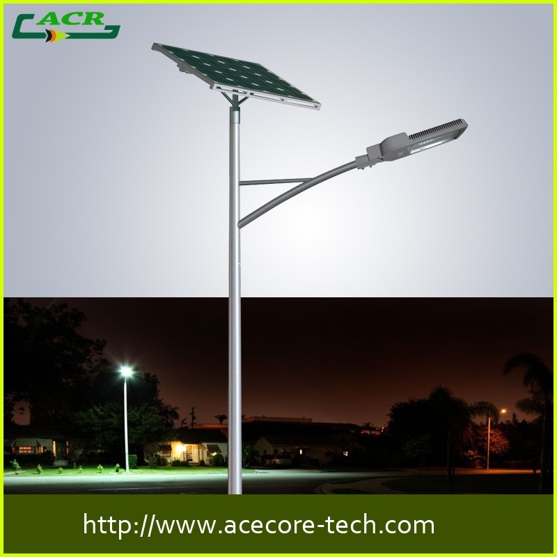 Factory LED solar street ligh separate design 30w 35w led luminance off road