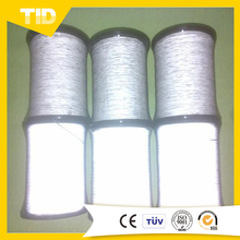 100% Polyester Reflective Thread ,High Visibility Single or Double Sides Reflective Yarn for Knitting