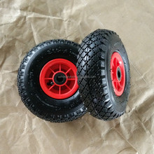 3.00-4 Pneumatic inflatable rubber wheel with plastic rim