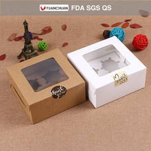 Different design clear cup cake box