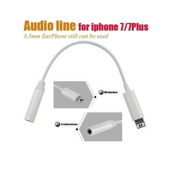 Earphone Headset Connecting Line Cable For Iphone 7 Plus To 3.5MM Audio Port Adapter Cord Without Mic