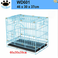 1 Door Black Small ABS Tray Pet Folding metal welded wire mesh dog cage