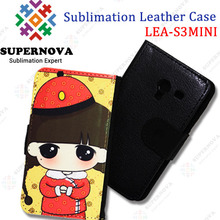 Sublimation Leather case for Samsung Galaxy S3 MINI