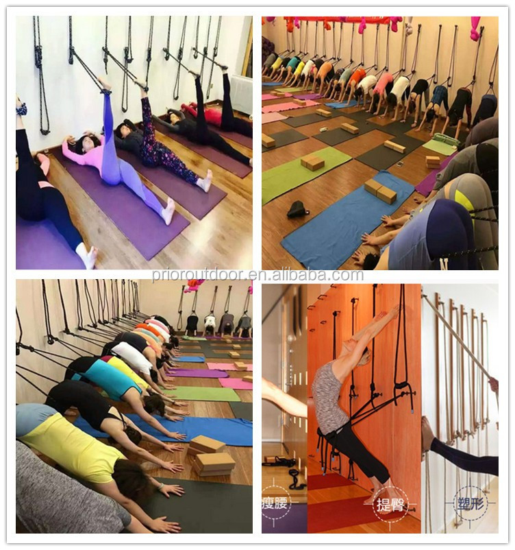 Rope for wall yoga-12mm Thickness- Strongest & Most Comfortable- The full set Rope Yoga wall