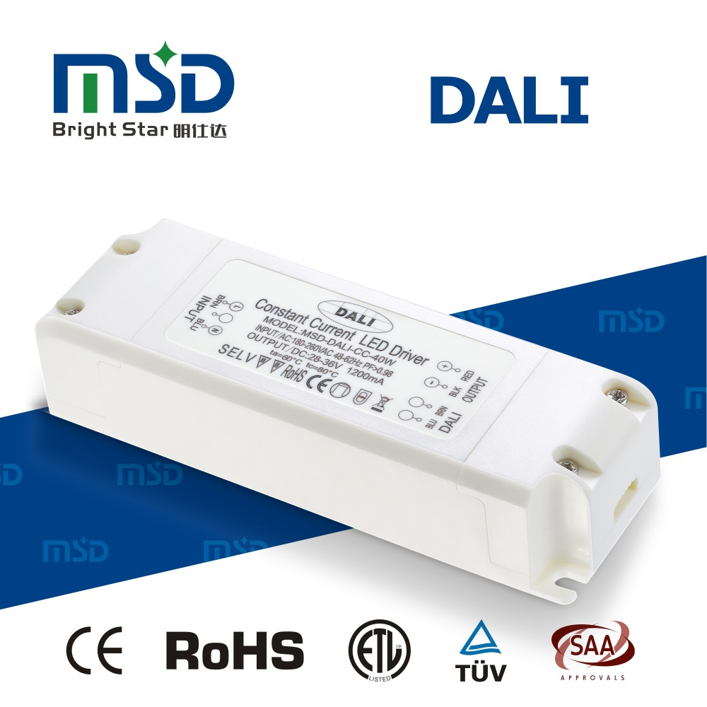 DALI group member listed high efficiency high power factor 48-60V 36w led dali driver 600ma