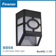 Solar led exterior wall light/wall sconce high lumen for home outdoor lighting