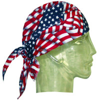 hotsale america stars and stripes polyester fabric summer cooling skull cap