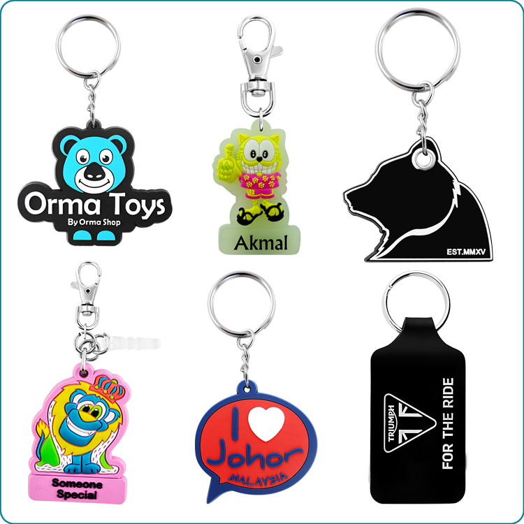 Personalized High quality soft PVC key chain