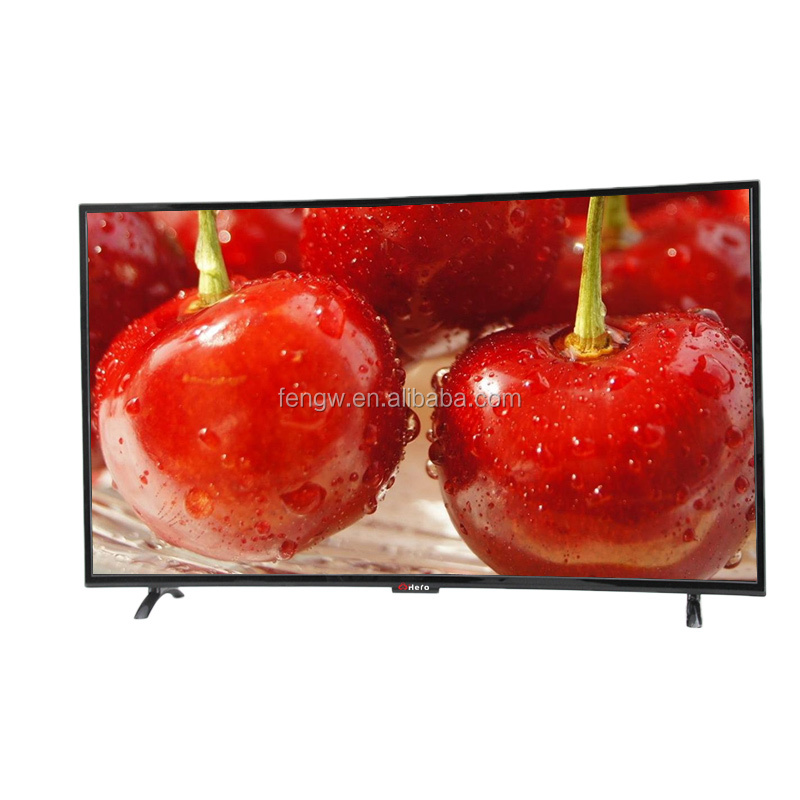 Popular Model Free Sample Foshan China TV LCD, Latest Size T.V LED SKD UHD TV Curved, Giant Screen Television 50'' LED TV