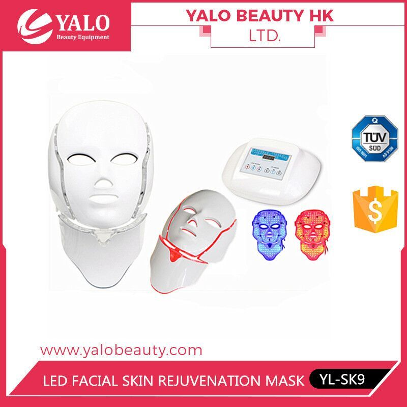 Photon light therapy led mask with face&neck led facial mask with Red,blu,infrared color
