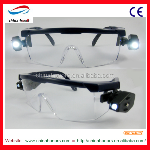 led safety goggles/uv protection glasses/safety glasses china