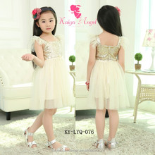 birthday dress for girl of 7 years old sequin frock with gauze wholesale china girls photos without dress