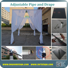 pipe and drape/party event back wall curtain stand/fiber wedding mandap