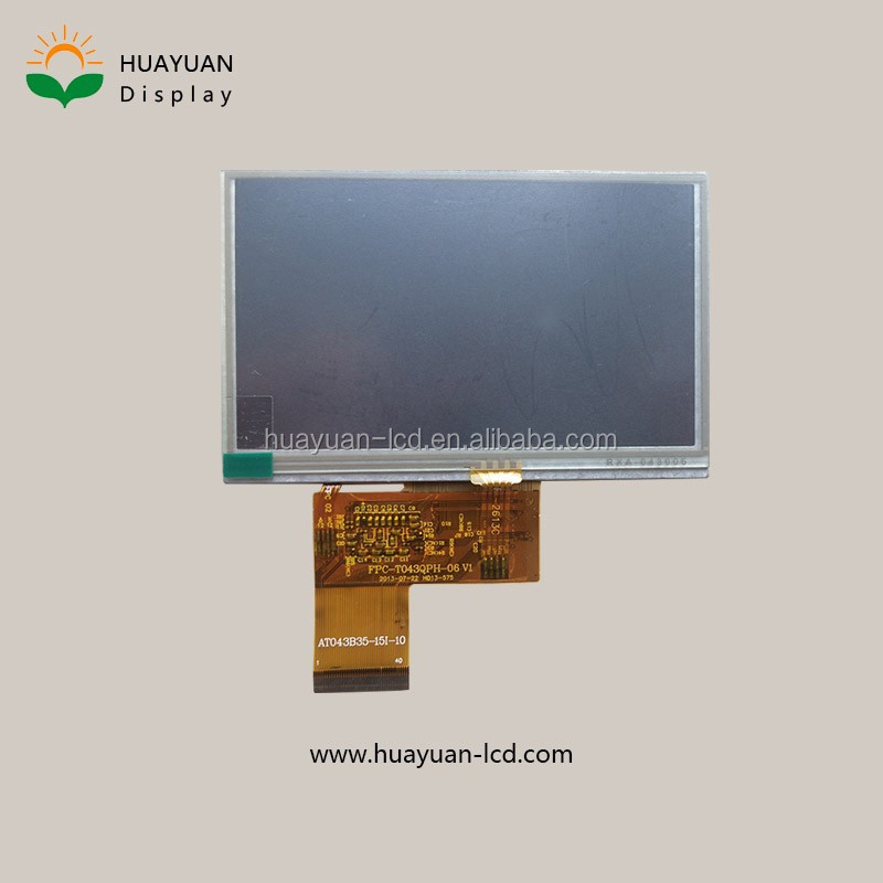 4.3 inch tft lcd 480x272 flexible lcd display capacitive touch screen