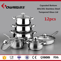 Stainless Steel Kitchenware Wholesale, Sandwich Bottom Stainless Steel Cookware Set Non Stick