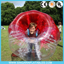 0.7mm TPU Inflatable bubble suits for adults TPU bubble suits for football 1.5m Dia