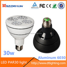 Factory wholesale AC90-305V Aluminum 6030 housing LED PAR30 PAR38 light par30 e27 led spotlight 30w