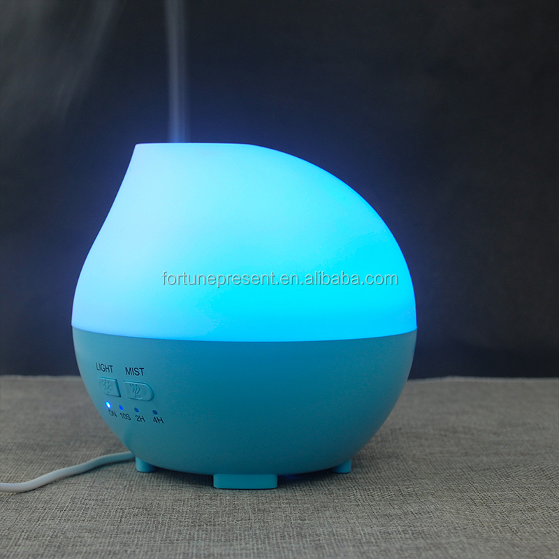 Hot selling 300ml water drop shape mini humidifier , air aroma diffuser with LED light