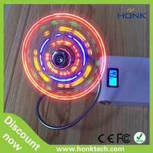 mini usb fan with colorful led clock computer fan