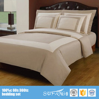 nantong hotel linen new arrival patchwork hotel bed sheet designs