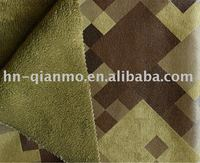 100% polyester bronzing suede bonded with short fleece fabric