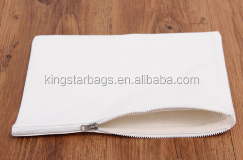 Blank Canvas Zipper Makeup Bags Phone Pouch