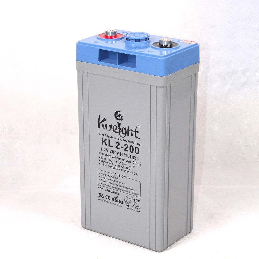 Long life 2 volt 200ah lead acid power battery storage battery