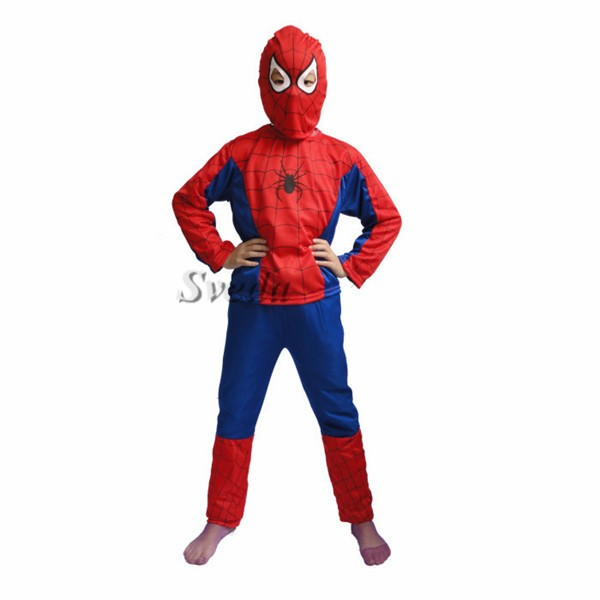 Wholesale Halloween Children's Cosplay Costumes Spider man cosplay suit Children christmas clothes