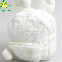 2016 OEM Lovely White Rabbit Plush Bags Animal Plush Backpack