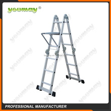 Aluminum step ladder used ladders AM0212A/scaffolding for sale adjustable step stool with rubber feet for ladders