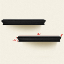 Set of 2 decorative wooden floating wall shelf as wall decor