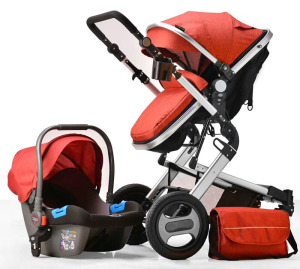 Factory 3-in-1 car seat travel system luxury 3 in 1 baby stroller