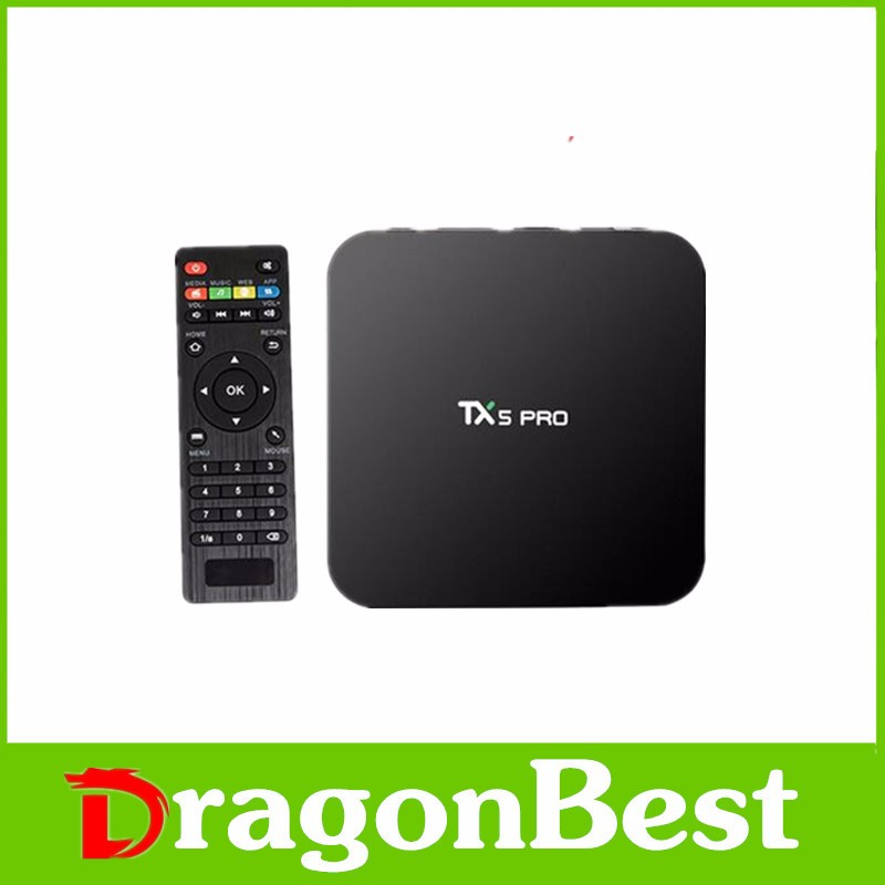 HD digital tv set top box media player xbmc TX5 Android 6.0 TX5 PRO Amlogic S905X Quad core download 3gp videos
