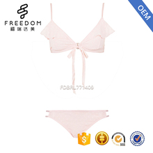 Stylish pink fastening bra set underwear women hot and sexy desi girls pictures sexy bra panty set images