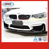 wholesale F82 M4 F80 M3 front bumper lip with splitter carbon fiber 2014-2016 FOR BMW body kits