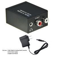 Digital to Analog (L/R) Stereo Audio Converter Adapter Digital Coaxial or Optical SPDIF into Stereo 3.5mm Jack or L/R