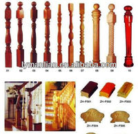 wooden stair banister