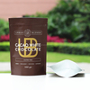 organic food packaging / ziplock kraft paper coffee tea packaging bag