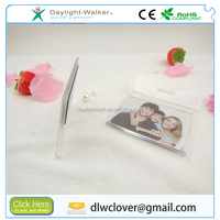 Promotional acrylic miniature photo picture frame with magnet, fridge photo frame magnet