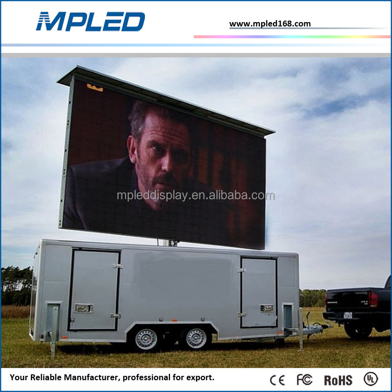 truck/trailer/car moving led display 2015 led mobile stage truck for sale blue film sex video