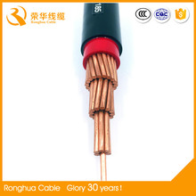 pvc insulated sheathed low voltage 400 v single solid copper core VV power cable