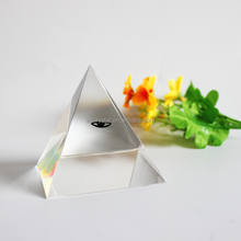 Hot Sale K9 High Quality Blank Crystal Glass Pyramid Shaped Paperweight --Free Engraving