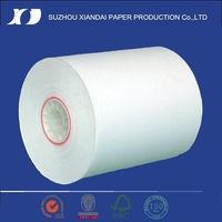 2015 pre printed thermal paper roll 75mm width digital printing machine wood pulp thermal paper top coated rolls