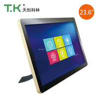 TK-MET10 Factory price for 23.6 inch LCD capacitive display touch screen desktop computer all-in-one pc