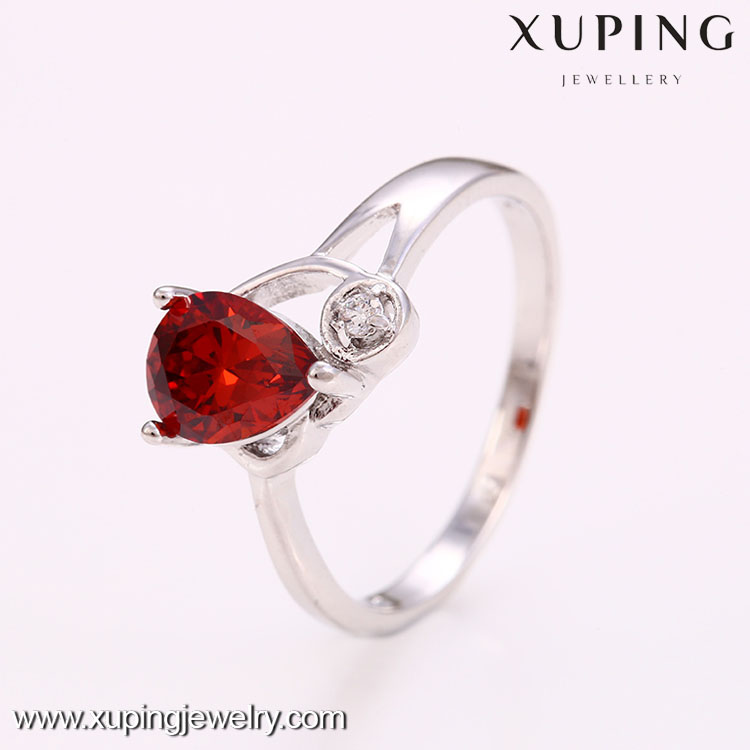 12459 High quality cheap red factory price fashion simple affordable wedding rings