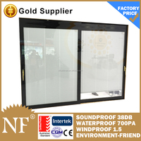 double glass blinds sliding windows aluminium profile made
