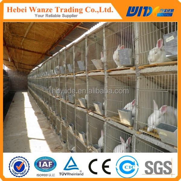 Metal cheap commercial wholesale rabbit cage breeding / rabbit farming cages