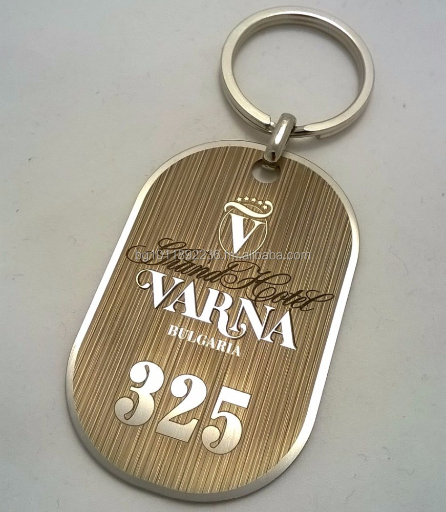 Hotel keychain metal stainless steel key chain