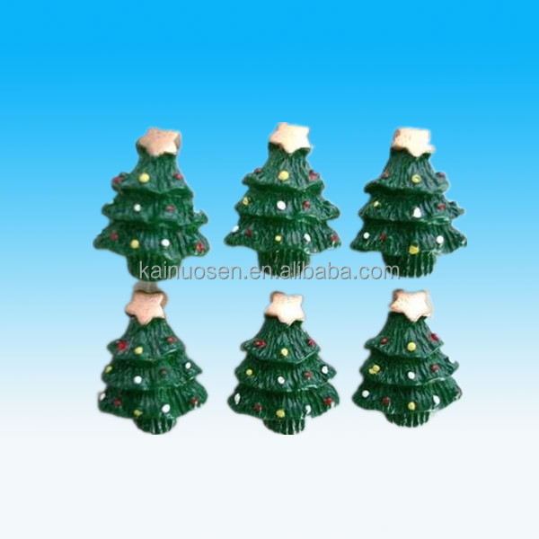 Handmade Green Christmas Tree Resin Flatback Button/paper craft gift ornaments